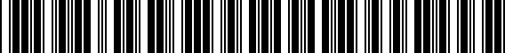 Barcode for 1T4071496C8Z8