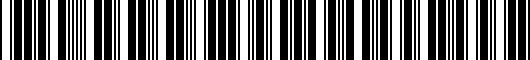 Barcode for 5G00714968Z8