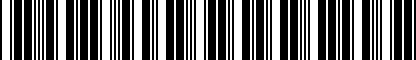 Barcode for NPN074005